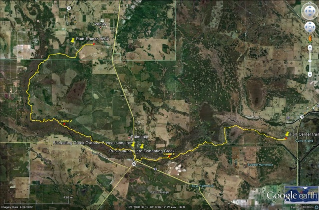 Fisheating Creek satellite hike palmdale awakenthegrass Flex Maslan photography